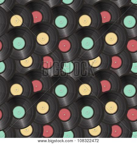 vinyl records seamless background