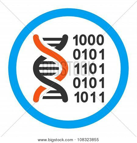 Genetic Code Rounded Glyph Icon