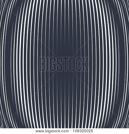 Abstract Lined Background, Optical Illusion Style. Chaotic Lines Creating Geometric Pattern