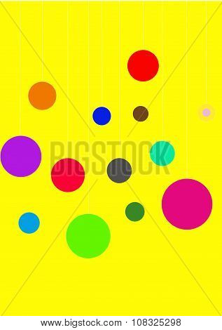 bright yellow background with balls