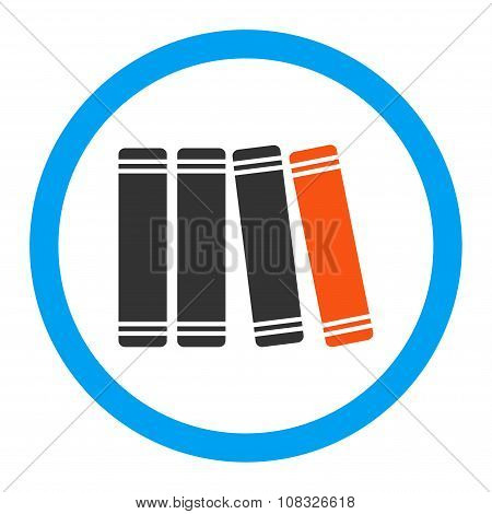 Library Books Rounded Glyph Icon