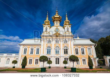 Palace Church In Peterhof