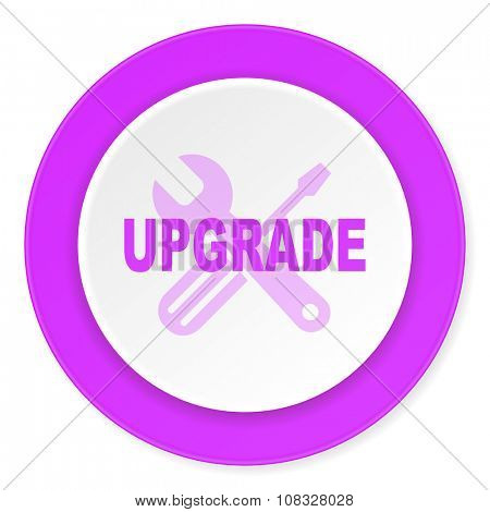 upgrade violet pink circle 3d modern flat design icon on white background