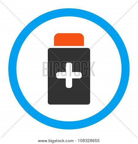 Medication Bottle Rounded Glyph Icon