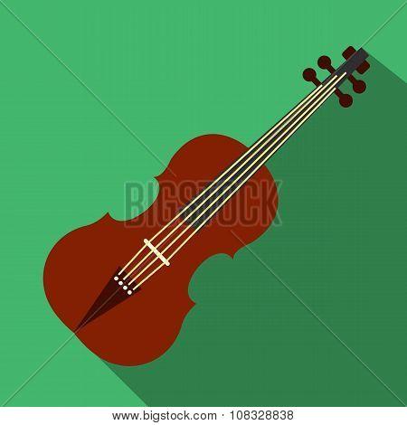 Violin flat icon