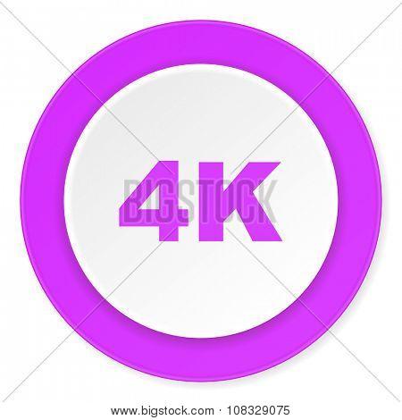 4k violet pink circle 3d modern flat design icon on white background