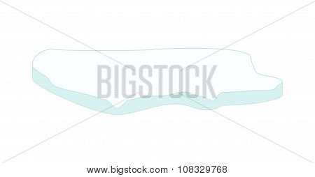 Ice Floe Icon, Symbol, Design. Winter Vector Illustration Isolated On White Background.
