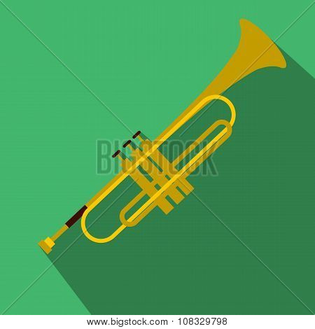Trumpet simple flat icon