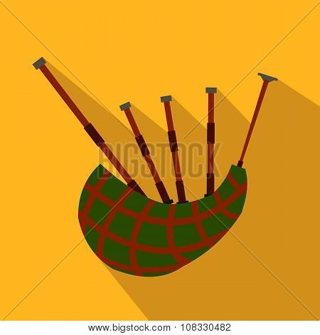 Scottish bagpipe flat icon