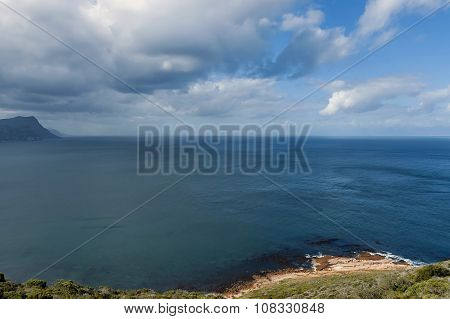 Scenic View to False bay from Cape of Good Hope hill