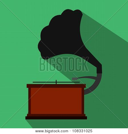 Gramophone flat icon