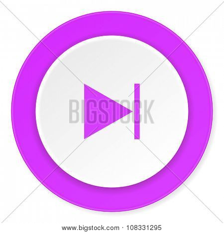 next violet pink circle 3d modern flat design icon on white background