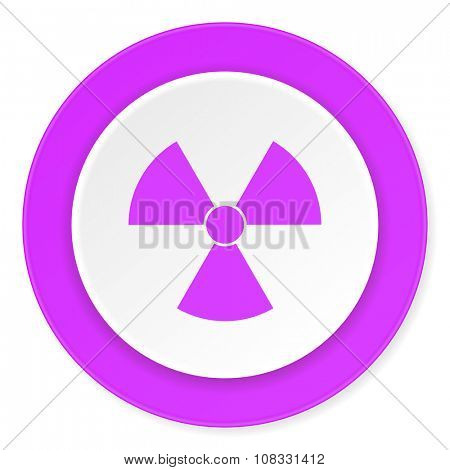 radiation violet pink circle 3d modern flat design icon on white background