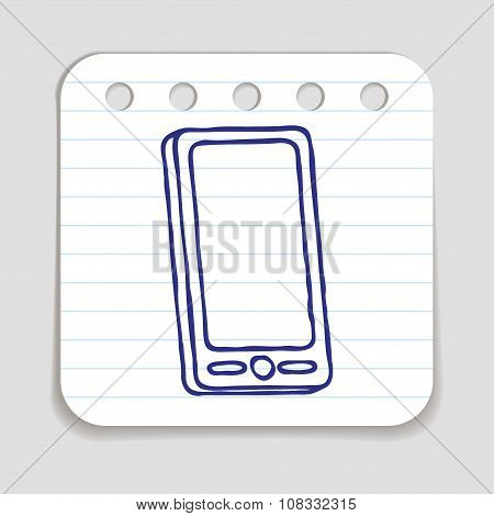 Doodle Mobile phone icon
