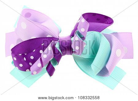 Colorful crazy bow tie or hair bow