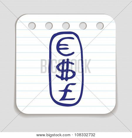 Doodle Currencies icon.