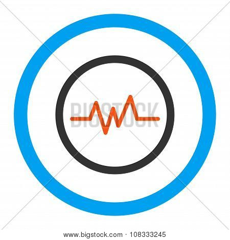 Pulse Monitoring Rounded Glyph Icon
