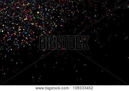 Colorful confetti vector. Colorful grainy texture vector.
