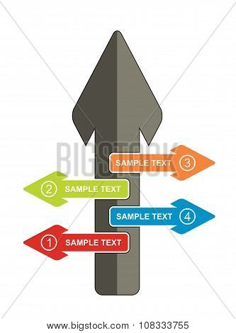 Communication Concept, Template With Arrows