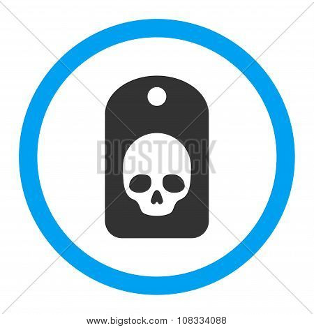 Skull Label Rounded Glyph Icon