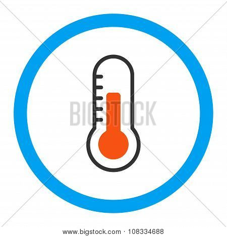 Temperature Rounded Glyph Icon