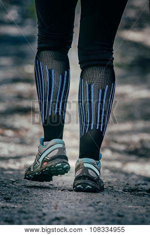 closeup feet of runner