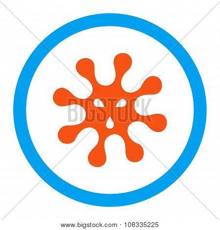 Virus Rounded Glyph Icon