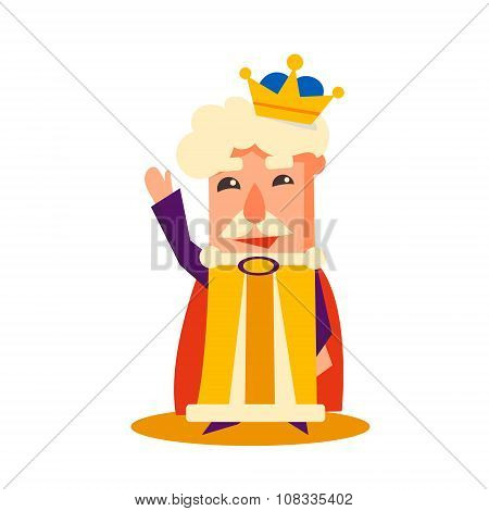 King Cartoon Emotion Vector Illustration Set
