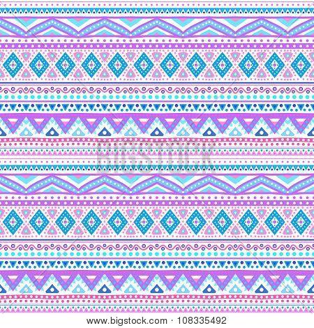 Tribal ethnic seamless stripe pattern. illustration
