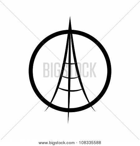 Praying Hands And Eiffel Tower. A vector Illustration Isolated On White Background. Peace For Paris,