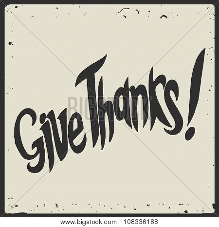Give Thanks Hand Written Lettering.eps