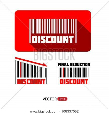 Bar code sale and discount sticker