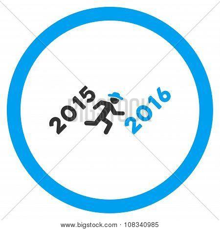 Run To 2016 Year Flat Icon