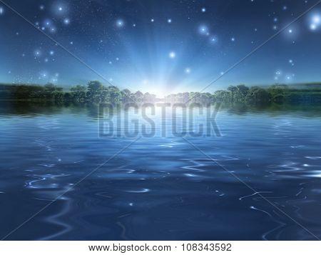 Light over the horizon