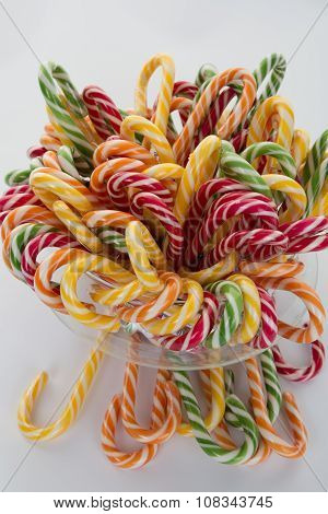 Lots Of Twisted Candies In Different Nice Colors Isolated