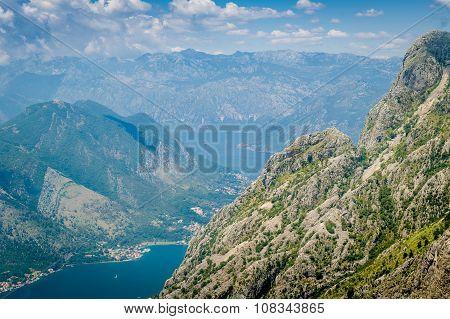 Boka Kotor bay rocky landscape