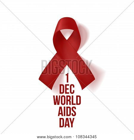 World AIDS awareness Day Red Ribbon