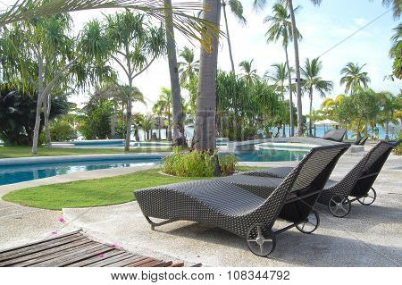 Dos Palmas Island Resort Swimming Pool in Palawan, Philippines