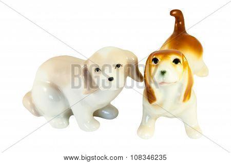 Ceramic Dogs Figurines