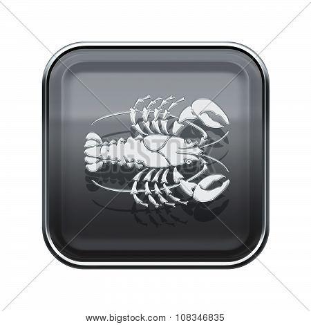 Cancer Zodiac Icon Grey, Isolated On White Background