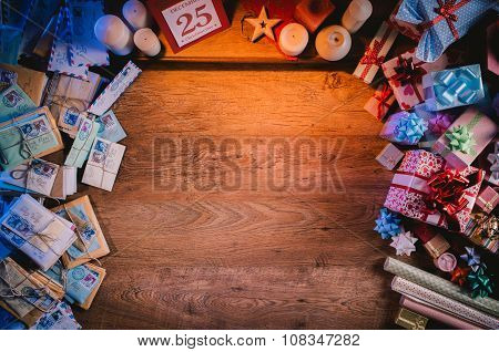 Christmas Desktop With Gifts
