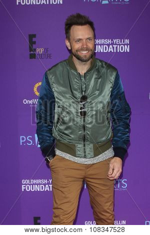 LOS ANGELES - NOV 15:  Joel McHale at the Express Yourself 2015 presented by P.S. ARTS at the Barker Hanger on November 15, 2015 in Santa Monica, CA