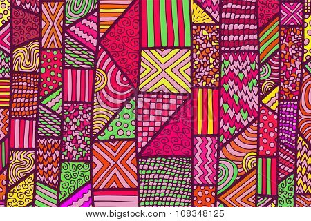 Zentangle Lines Color Background 3
