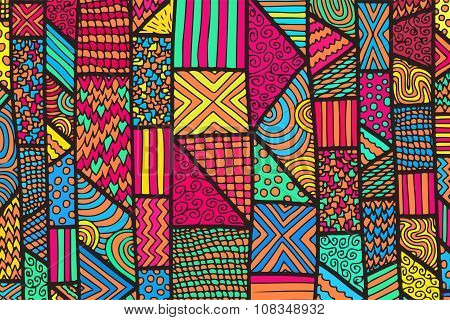 Zentangle Lines Color Background 7