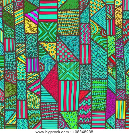 Zentangle Lines Color Background 8