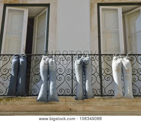 Jeans On Balcony