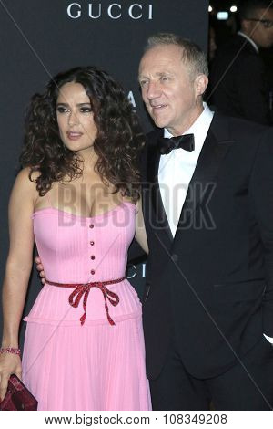 LOS ANGELES - NOV 7:  Salma Hayek, Francois Henri Pinault at the LACMA Art + Film Gala at the  LACMA on November 7, 2015 in Los Angeles, CA