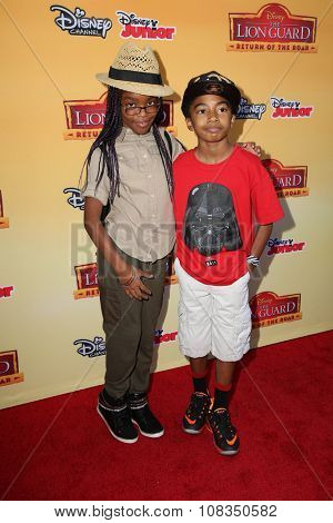 LOS ANGELES - NOV 14:  Marsai Martin, Miles Brown at the