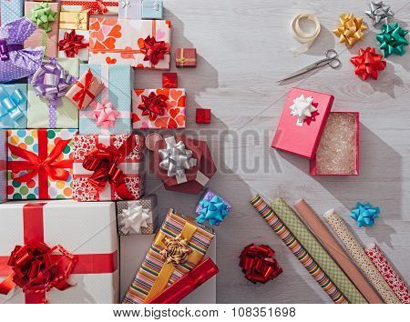 Wrapping Christmas Gifts