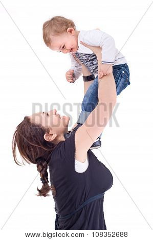Mother playing with her child